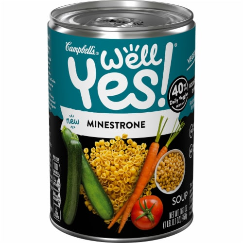 Campbell's Well Yes! Minestrone Soup Perspective: front