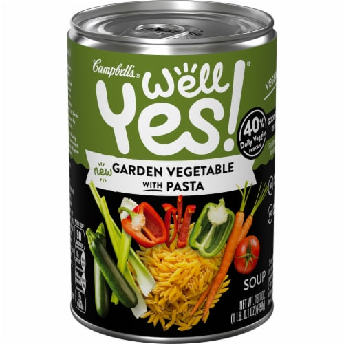 Campbell's Well Yes Garden Vegetable with Pasta Soup Perspective: front