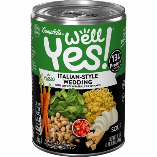 Campbell's Well Yes! Italian Wedding Soup Perspective: front