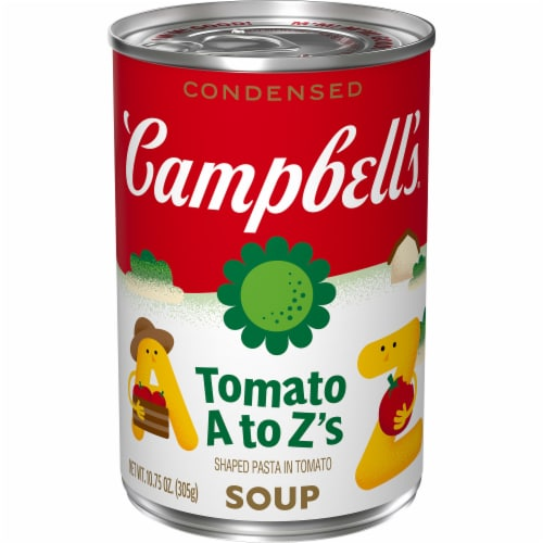 Campbell's Tomato A to Z's Condensed Soup Perspective: front