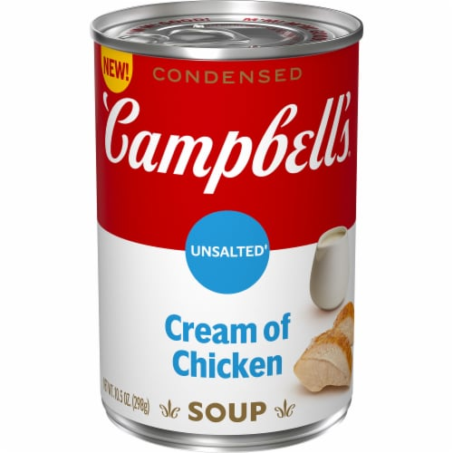 Campbell's® Condensed Unsalted Cream of Chicken Soup Perspective: front