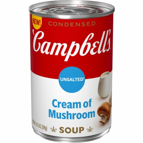 Campbell's Unsalted Condensed Cream of Mushroom Soup Perspective: front