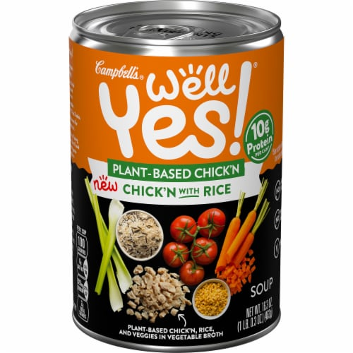 Campbell's® Well Yes!® Plant-Based Chick'n with Rice Soup Perspective: front