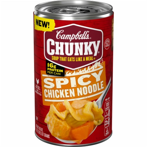 Campbell's Chunky Spicy Chicken Noodle Soup Perspective: front