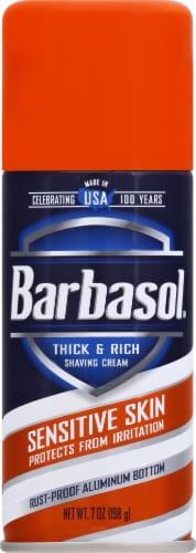 Barbasol Sensitive Skin Shaving Cream Perspective: front