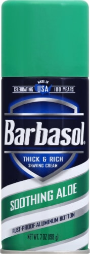 Barbasol Soothing Aloe Shaving Cream Perspective: front