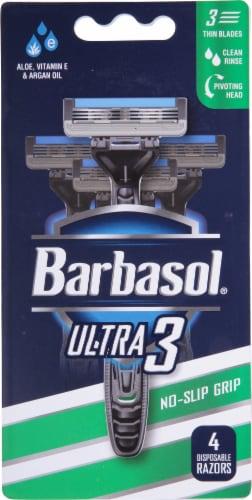 Barbasol Ultra 3 Men's Disposable Razors Perspective: front