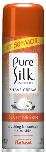 Pure Silk Spa Therapy Sensitive Skin Shave Cream Perspective: front