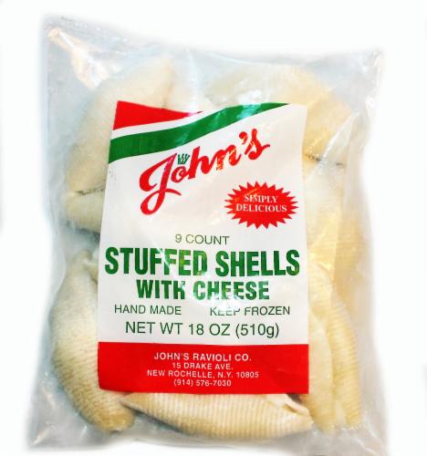 John's Pasta Stuffed Shells alla Vodka Perspective: front