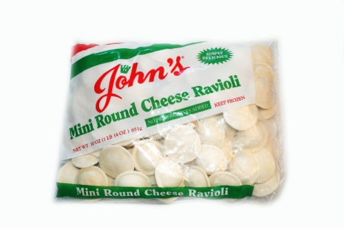 John's Pasta Round Mini Cheese Ravioli Perspective: front