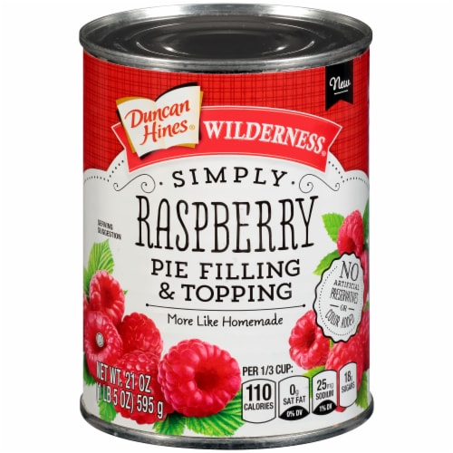 Duncan Hines Wilderness Simply Raspberry Pie Filling & Topping Perspective: front
