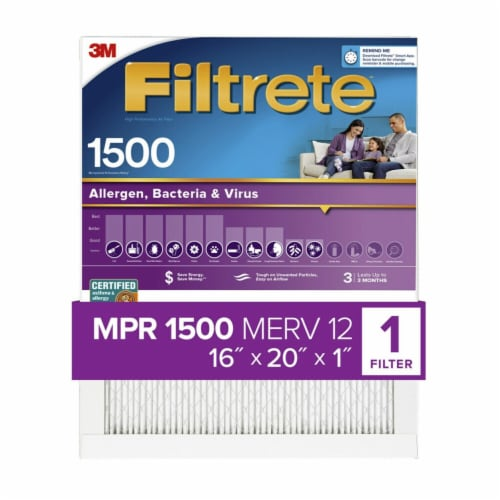 Filtrete Healthy Living 1500 Ultra Allergen Filter Perspective: front
