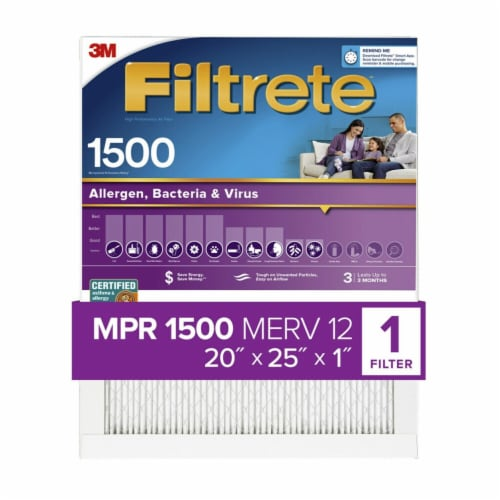 Filtrete Healthy Living 1500 Ultra Allergen Filter Perspective: front