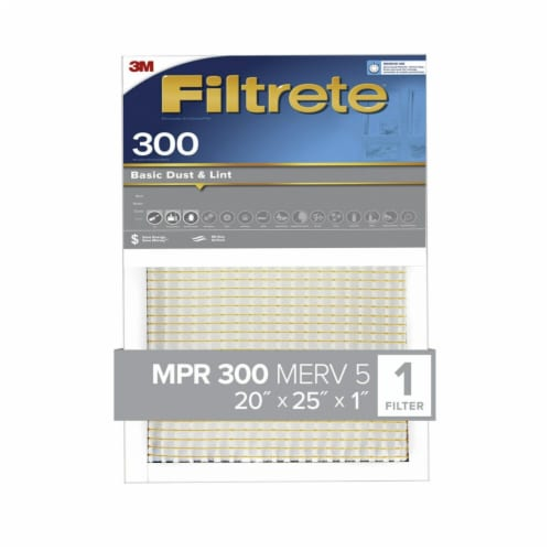 Filtrete Dust Reduction 300 High Air Flow Filter Perspective: front