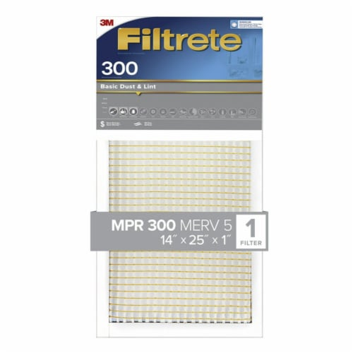 3M Filtrete Dust Reduction 300 High Air Flow Filter Perspective: front