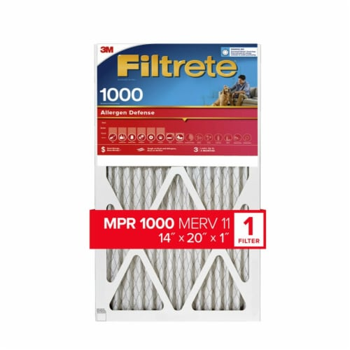 Filtrete Micro Allergen Defense 1000 Electrostatic Air Cleaning Filter Perspective: front