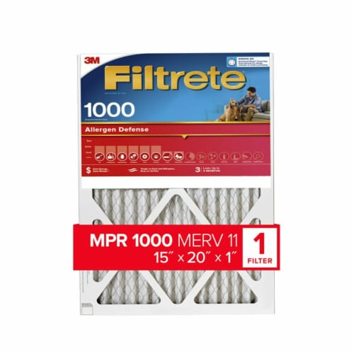 3M Filtrete Allergen Defense Protection 1000 Micro Allergen Filter Perspective: front