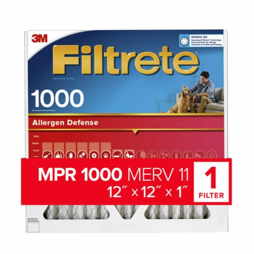 3M Filtrete 1000 Micro Allergen Defense Air Filter Perspective: front