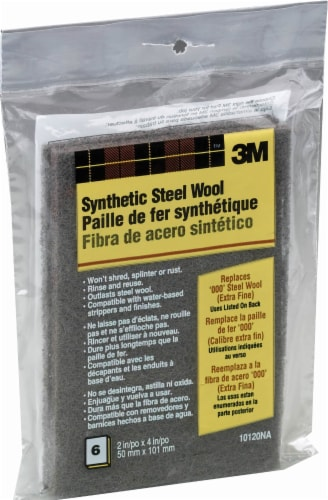 3M Extra Fine Synthetic Steel Wool - 6 Pack - Black Perspective: front