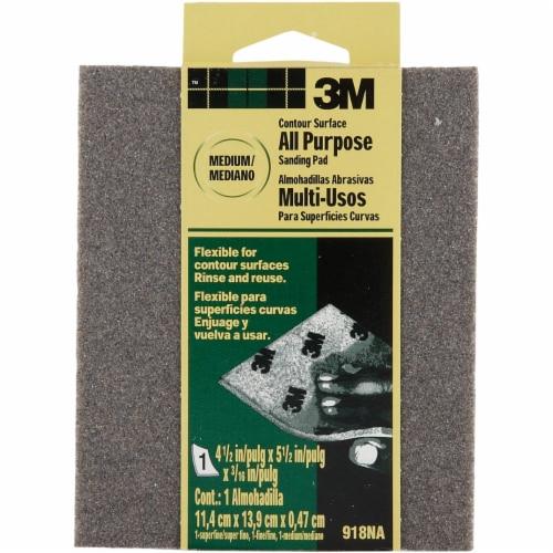 3M Medium Sanding Sponge 918DC-NA Perspective: front