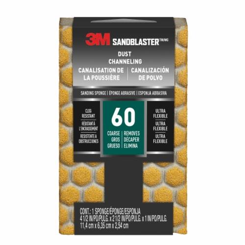 3M Sandblaster 60 Coarse Paint Stripping Sanding Sponges Perspective: front
