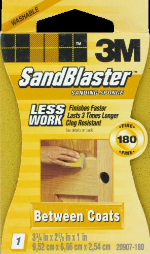 3M SandBlaster Sanding Sponge - Yellow Perspective: front