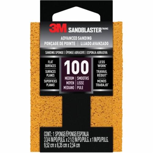 3M Medium Sanding Sponge 20908-100 Perspective: front