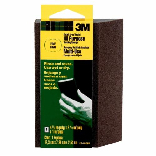 3M All Purpose Fine Grit Angled Sanding Sponge - Black Perspective: front