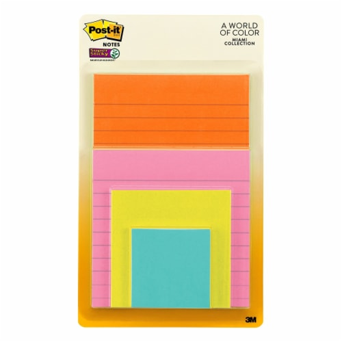 Post-it® Miami Collection Super Sticky Notes Perspective: front