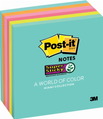 Post-it® Miami Collection Super Sticky Notes - 3 in x 3 in Perspective: front