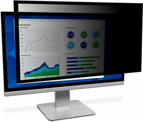 3M Framed Privacy Filter for Widescreen Desktop Monitor - Black Perspective: front