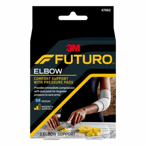 Futuro Medium Elbow Support with Pressure Pads Perspective: front