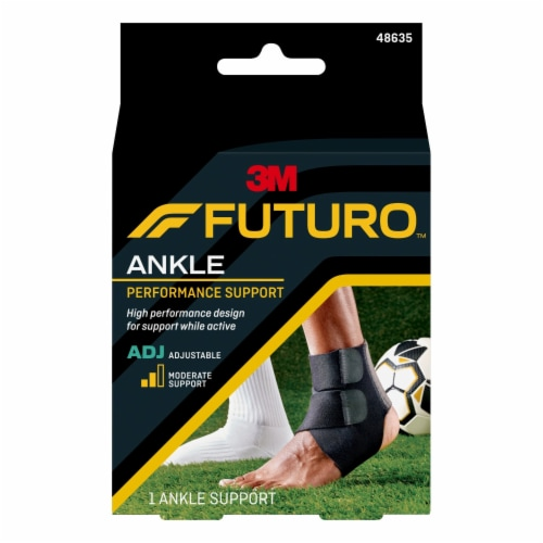 Futuro Sport Adjustable Moisture Control Ankle Support Perspective: front