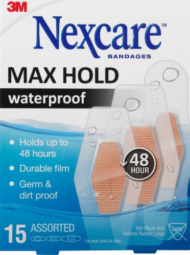 Nexcare Max Hold Waterproof Assorted Bandages Perspective: front