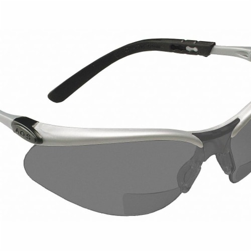 3m Bifocal Safety Read Glasses,+2.50,Gray  11379-00000-20 Perspective: front