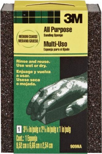 3M All Purpose Medium/Coarse Sanding Sponge - Black Perspective: front