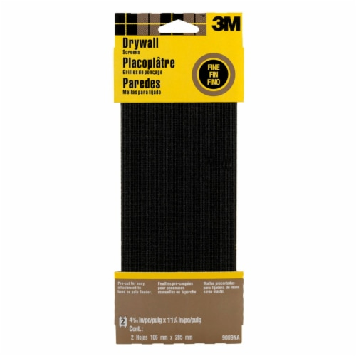 3M Fine Drywall Sanding Screens - 2 Pack - Black Perspective: front