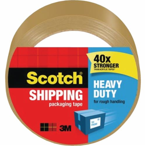 Scotch® Tan Heavy Duty Shipping Packaging Tape Perspective: front