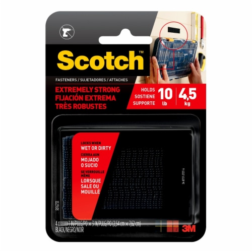 Scotch® Heavy Duty Industrial Strength Fastener - Black Perspective: front