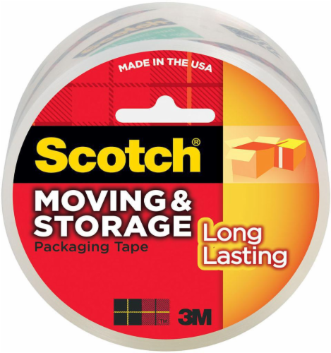 Scotch® Moving & Storage Packaging Tape - Clear Perspective: front