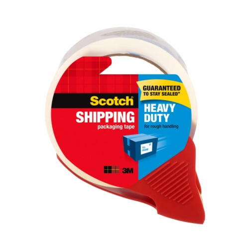 Scotch® Heavy Duty Shipping Packaging Tape & Dispenser Perspective: front