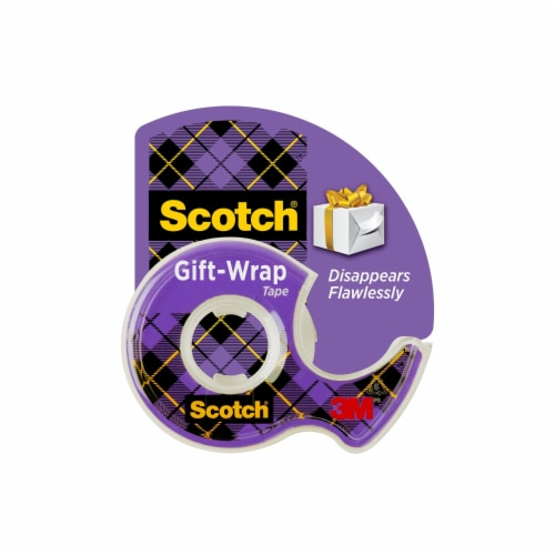 Scotch® Satin Finish GiftWrap Tape - Clear Perspective: front