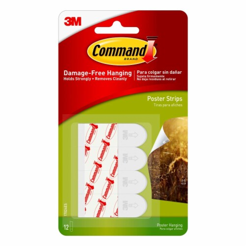 Command™ Damage-Free Hanging Small Poster Strips - White Perspective: front