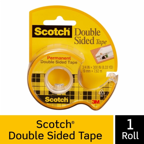 Scotch® Permanent Double-Sided Tape - Clear Perspective: front