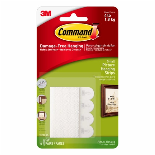 Command™ Damage-Free Small Picture Hanging Strips  - White Perspective: front
