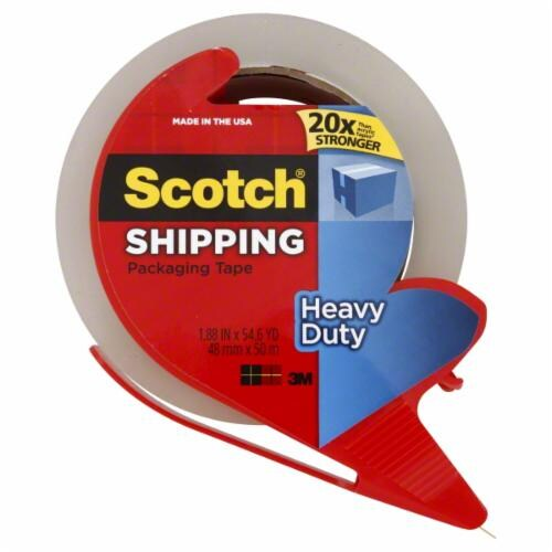 Scotch® Heavy Duty Shipping Tape - Clear Perspective: front