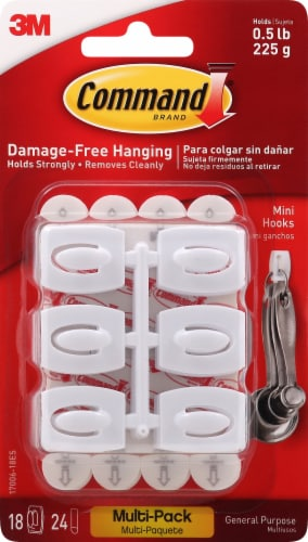 Command Damage-Free Mini Hooks Value Pack - White Perspective: front