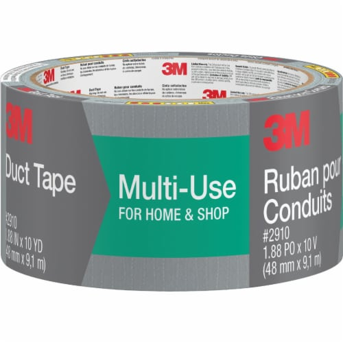 3M 1.88 In. x 10 Yd. Multi-Use Home & Shop Duct Tape, Gray 2910-C Perspective: front