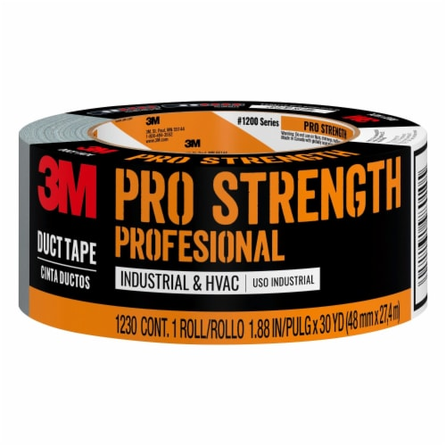 3M™ Pro Strength Professional Industrial & HVAC Gray Duct Tape Perspective: front