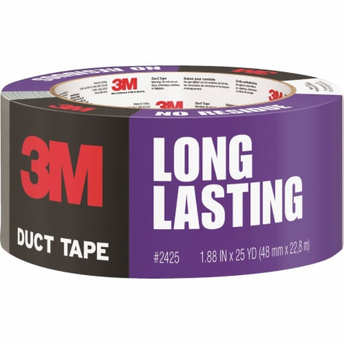 3M Long Lasting Gray Duct Tape Perspective: front